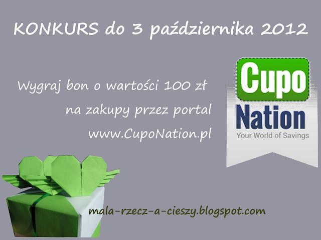"""Konkurs do 3 października 2012 i """"nutka poznańskiej oszczędności"""" w ramach współpracy z CupoNation.pl"""