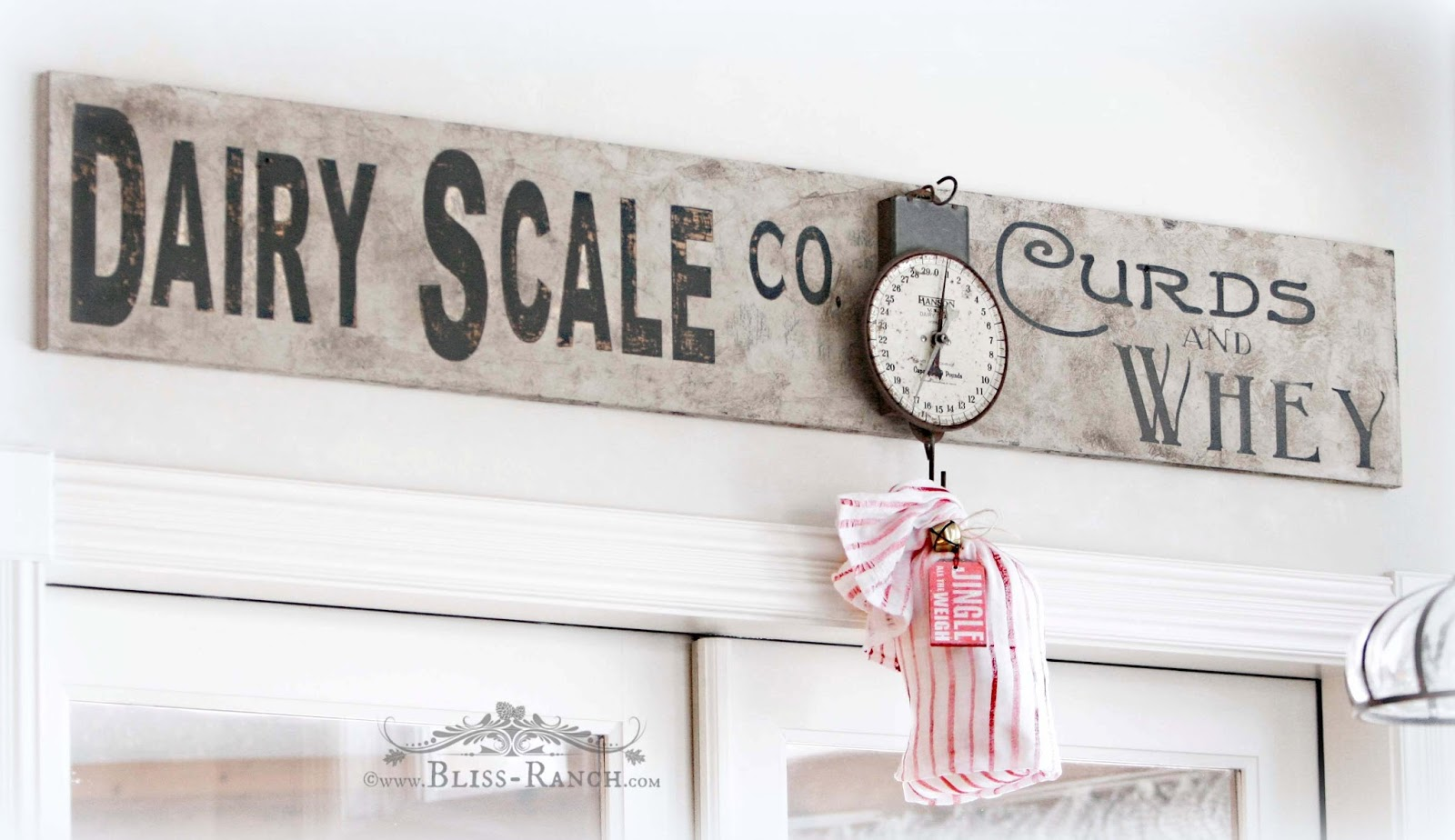 Dairy Sign With Vintage Scale Bliss-Ranch.com