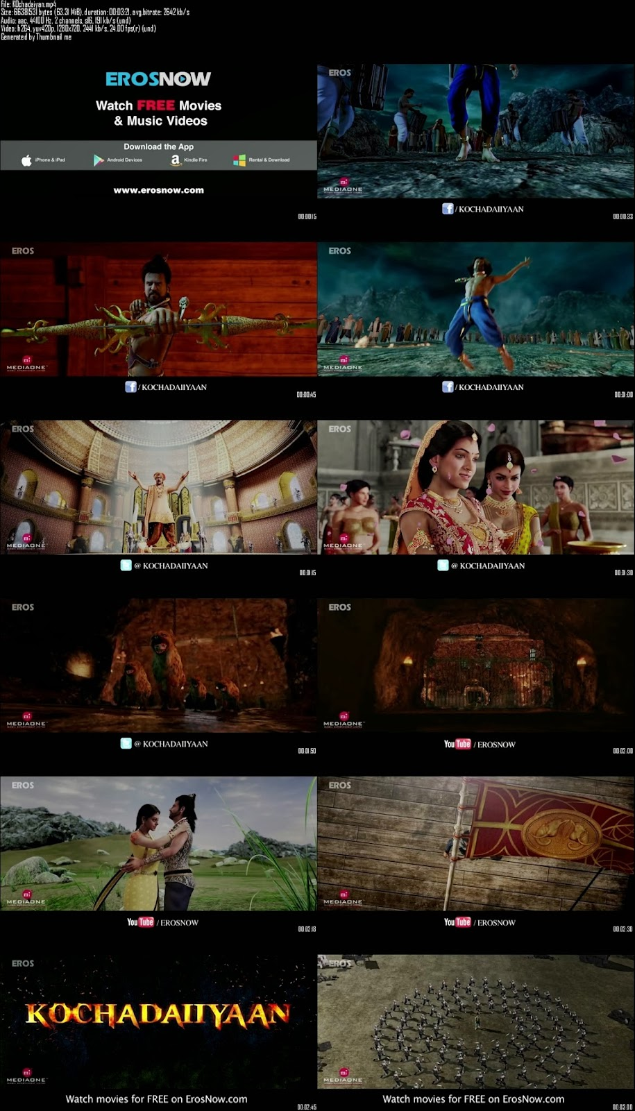 Mediafire Resumable Download Link For Teaser Promo Of Kochadaiiyaan The Legend (2014)