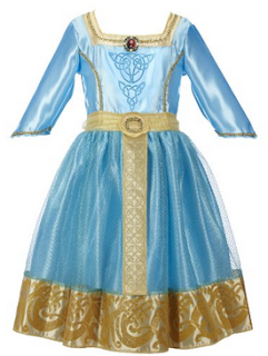 disney braves merida royal dress costume for kids