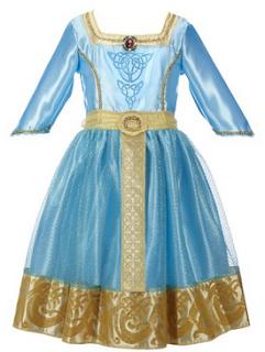 disney braves merida royal dress costume for kids