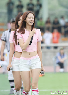Im Yoona Korean Cute Girl Singer Sexy Photo at Namyangju Central Football Game 33