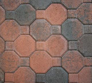 Ambrogetta mattone in terracotta smaltata o in marmo di forma ottagonale per rivestimento di muri o pareti