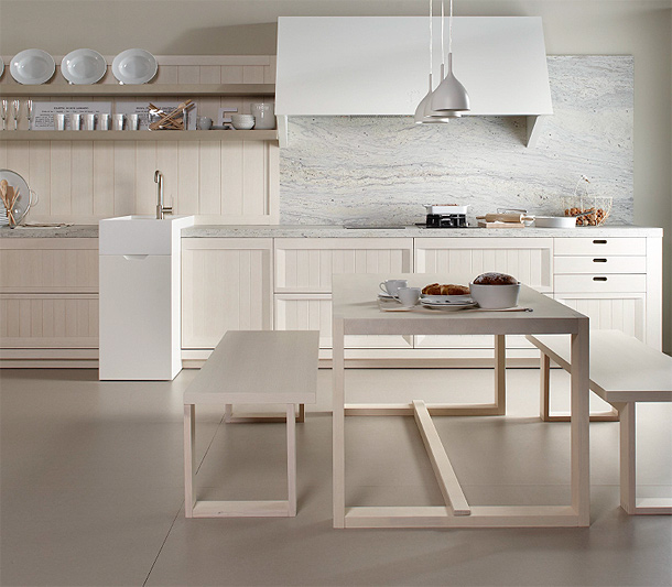 Marzua colecci n arkadia de dica una cocina de madera - Cocina con alma ...