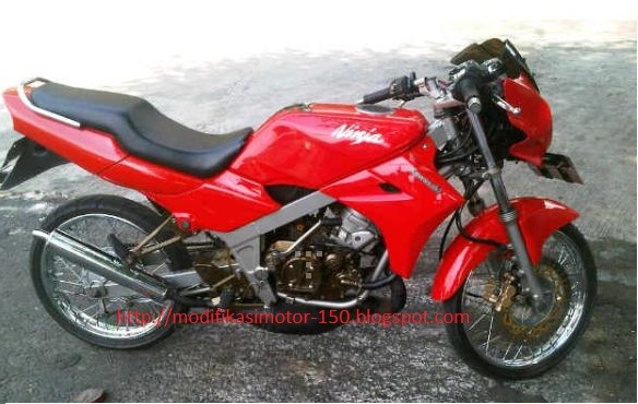 Ninja 150cc merah modifikasi