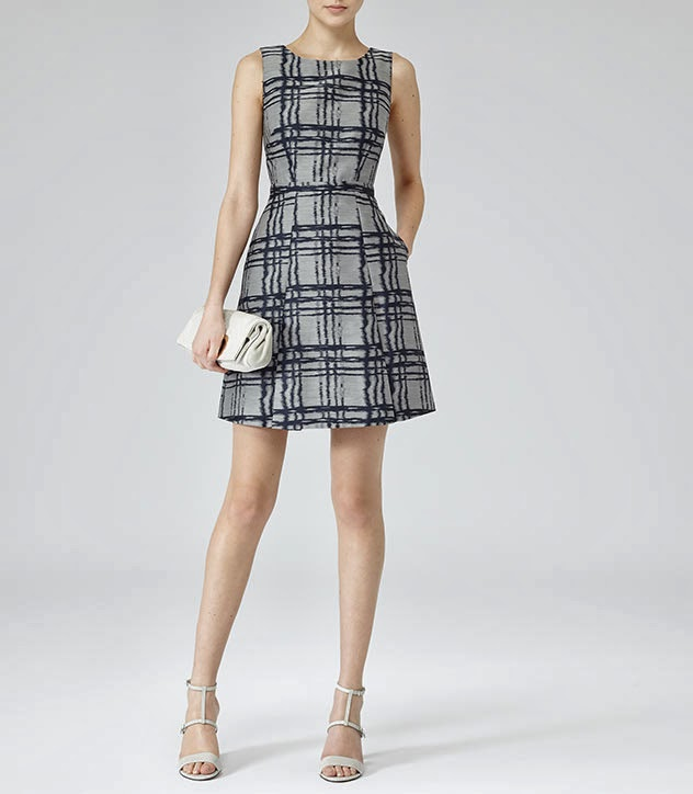 reiss check dress
