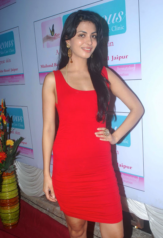 Indian Sexy Masala Model and Hot Girl  Gorgeous Skin Care Clinic Opening Photoshoot images