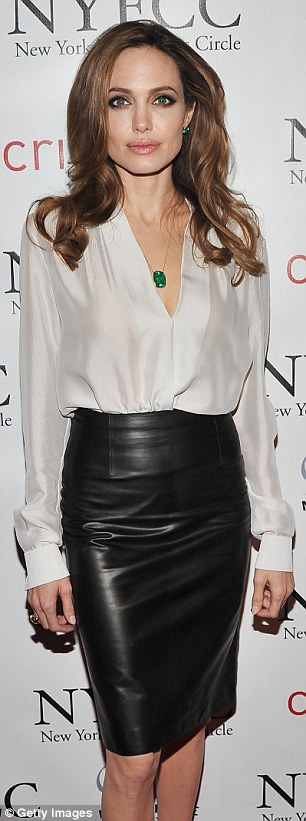 lovely in leather in a black