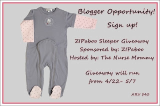 Zipaboo+Giveaway+Post FREE Blogger Opp! ~ Zipaboo Sleeper Giveaway!