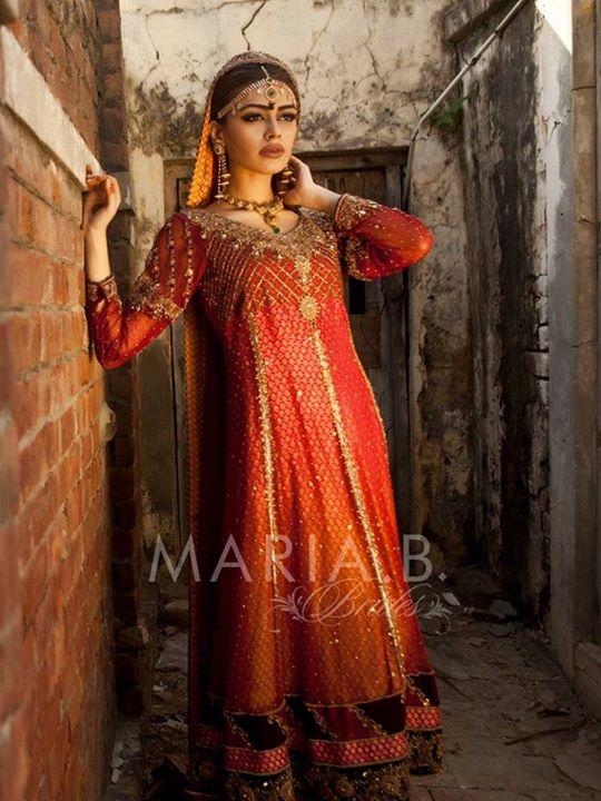 Mehndi Dresses By Maria B : Latest mehndi barat dresses by maria b