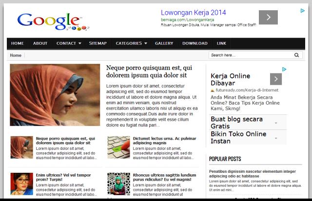 Google SEO - Template Blog Responsif Terbaru