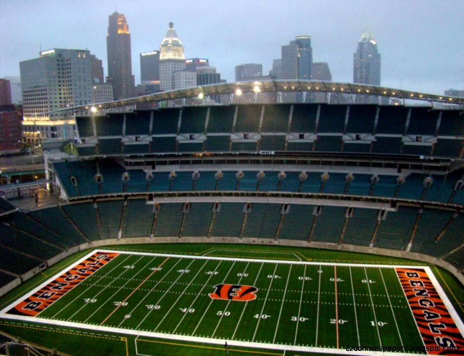 Cincinnati Bengals Paul Brown Aerial View Large Stadium Poster