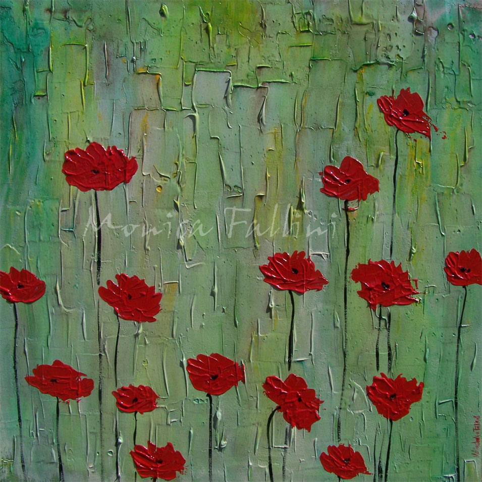 Happy Thanksgiving Today I Post 4 Painting Completed Recently This Year The Subject Matter Of 3 Them Are Poppies These Acrylics On Canvas