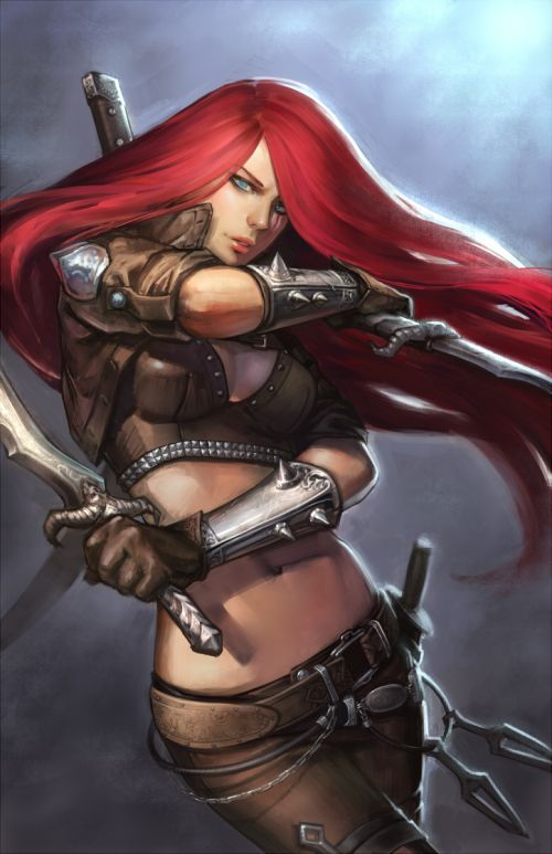 Noa Ikeda deviantart illustrations women female characters fantasy Red hair fighter