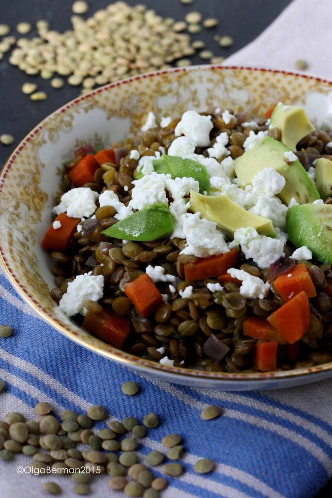 Mango & Tomato: Meatless Monday: Warm Lentil Salad With ...