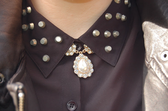 Forever 21 necklace and blouse