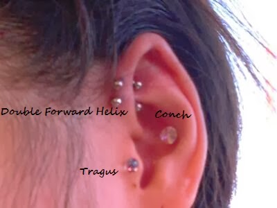 24 7 Mind And Beauty Double Forward Helix Piercing
