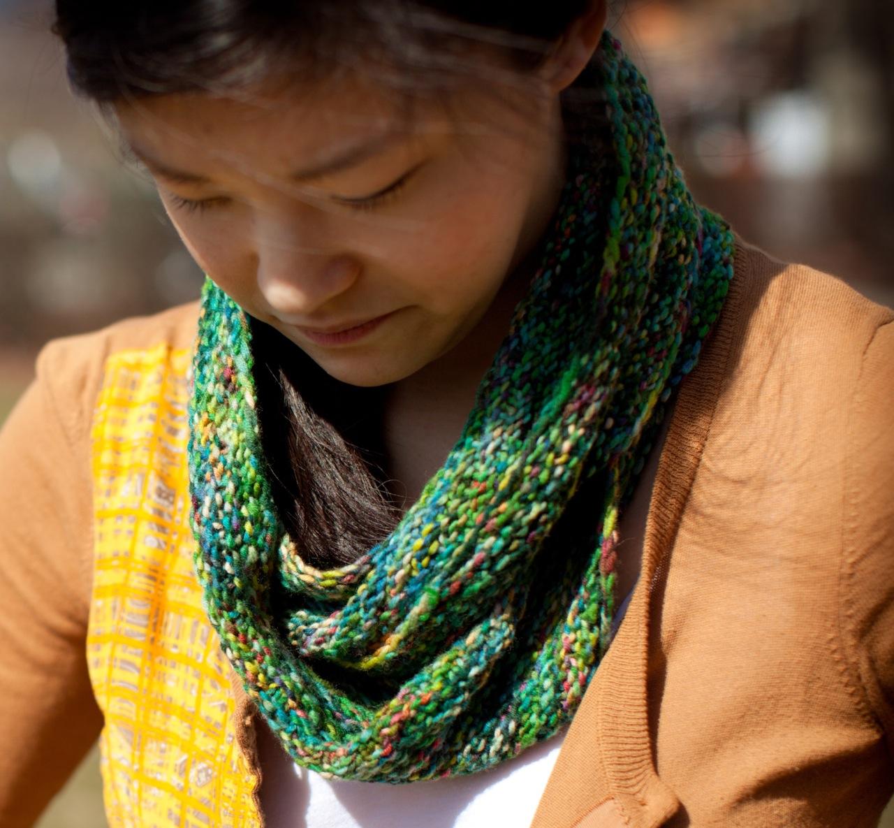 Free Knitting Pattern For An Infinity Scarf : Mari Knits: Patterns