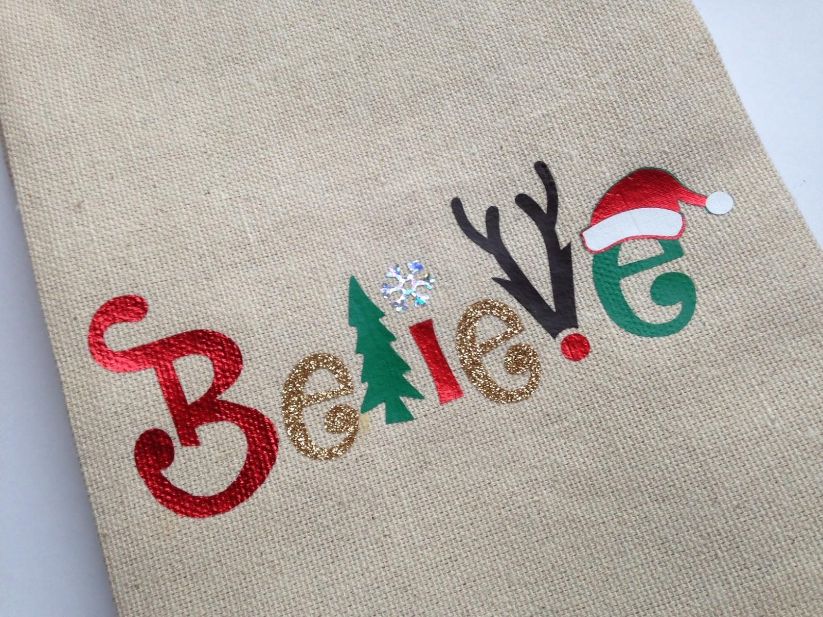 Christmas Believe Five Ways Free Silhouette Studio