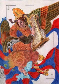 Angel  tocant l'arpa