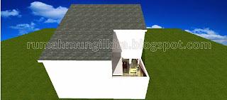 desain rumah mungil minimalis tipe 54 2 lantai