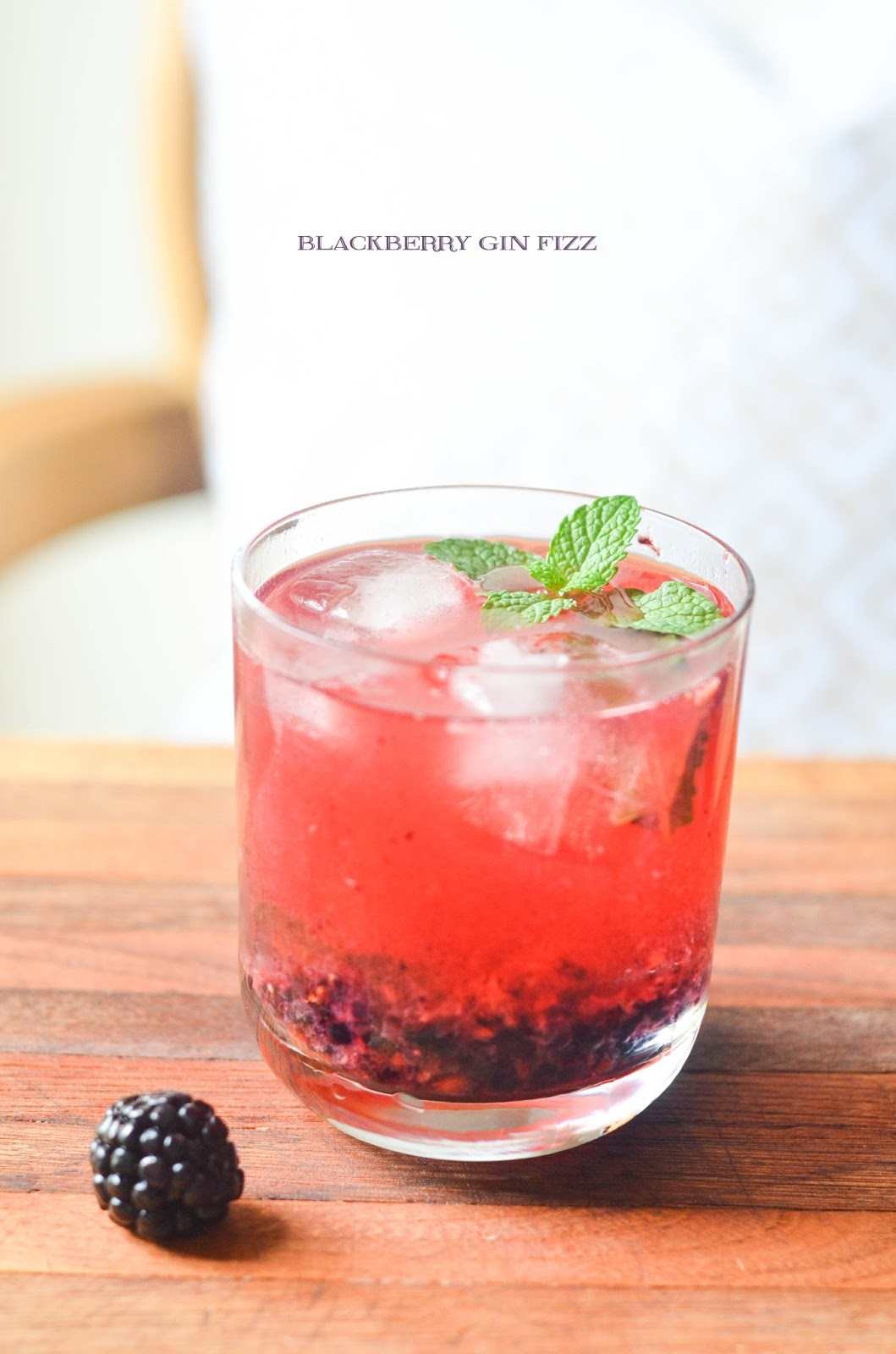 blackberry gin fizz | prosecco in the park