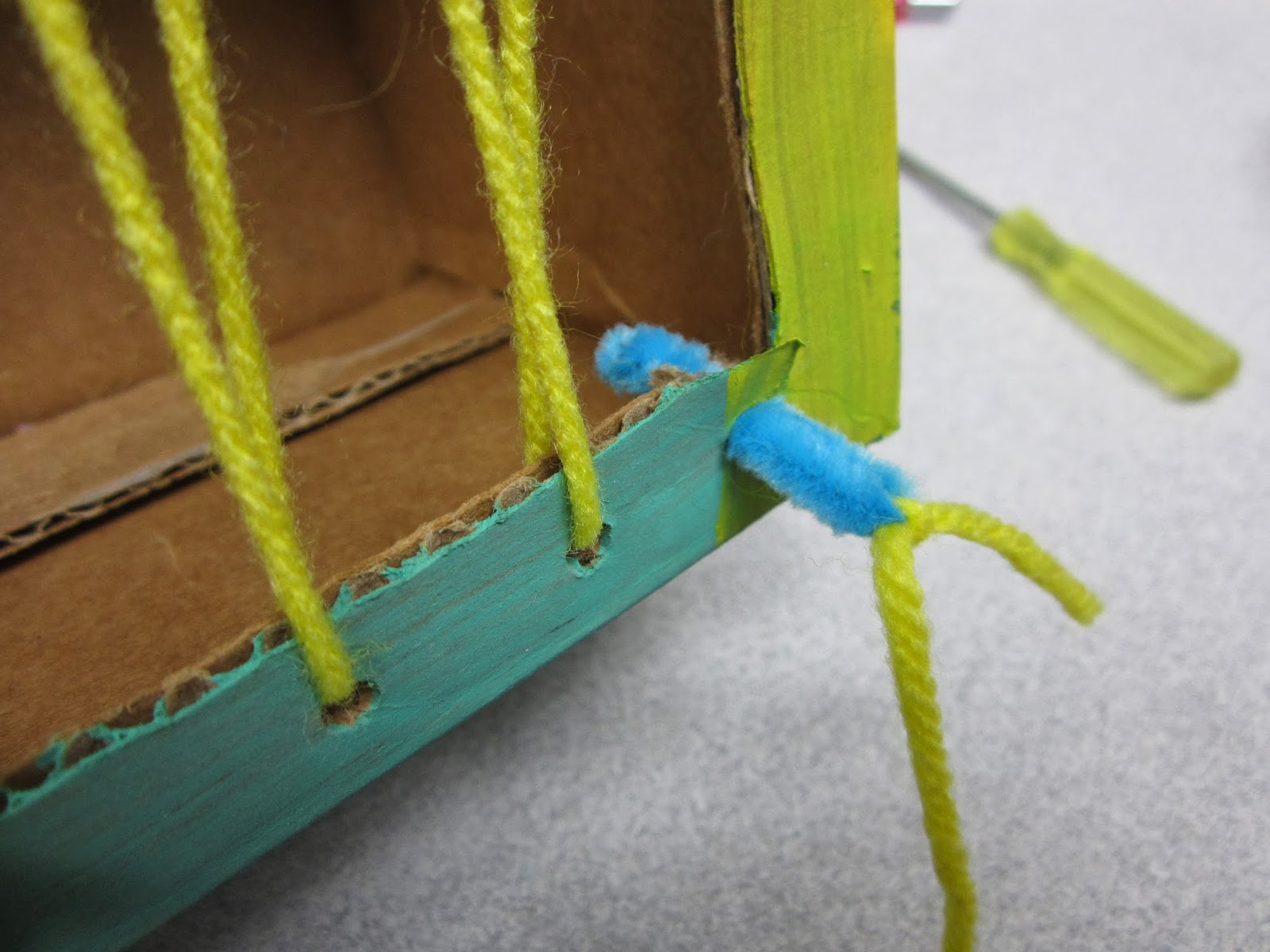 homemade yarn needle, pa-paw patch