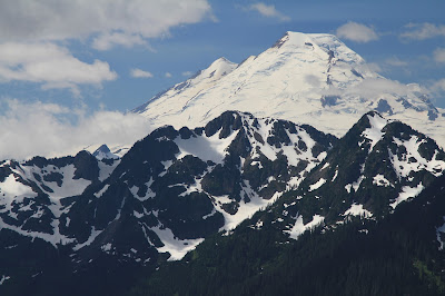 View of Mount Baker from the Goat Mountain Trail Knoll