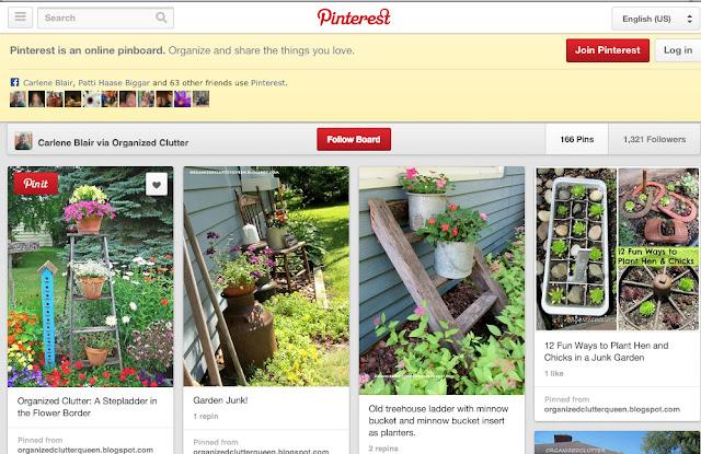 Organized Clutter Junk Garden Pinterest Board
