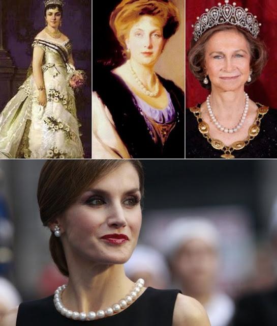 Queen Letizia Style pearl necklace