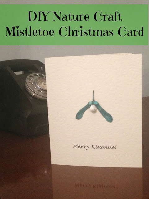 Helicopter Seed Mistletoe Christmas Card