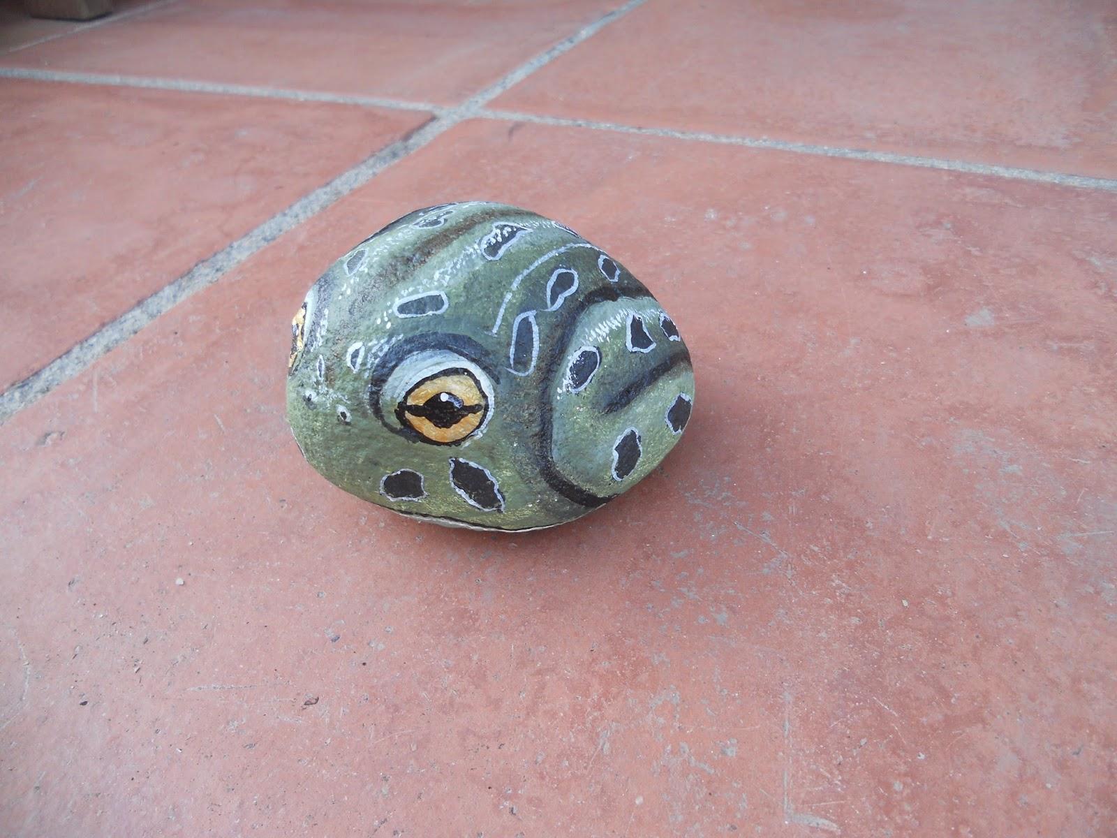 Piedras pintadas a mano piedras pintadas ranas 1 Piedras pintadas a mano