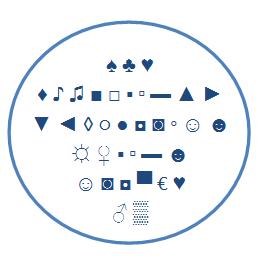 Symbole facebook lettre