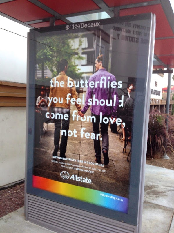 Allstate butterflies you feel should come from love not fear ad poster