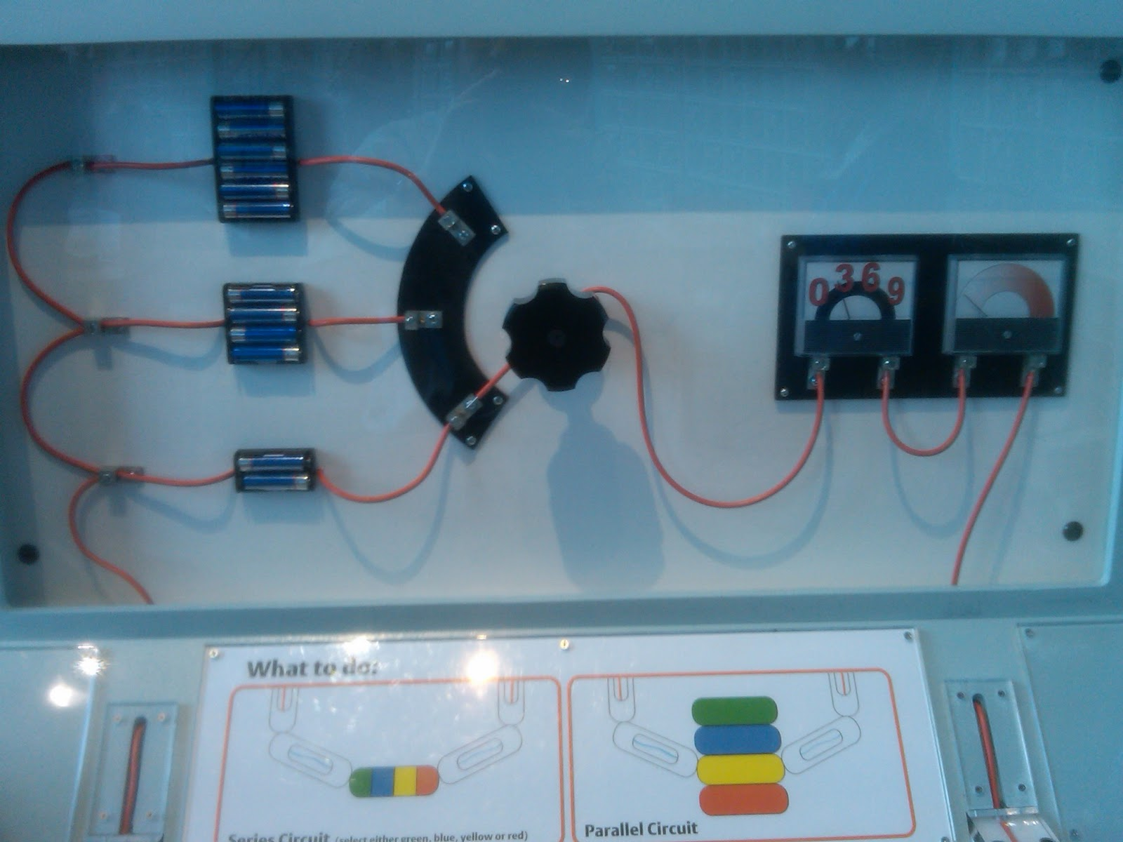 EE Proto: Voltmeter wiring error at the Museum of Science