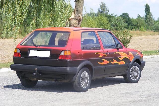 Malowanie samochodów areografia, malowanie płomieni n samochodzie