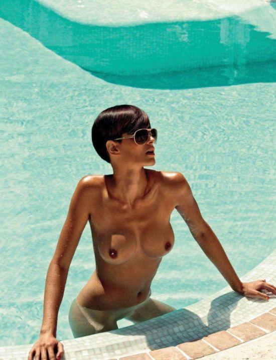 Zlata Okugic modelo mulher cabelo curto morena nua revista playboy eslovenia