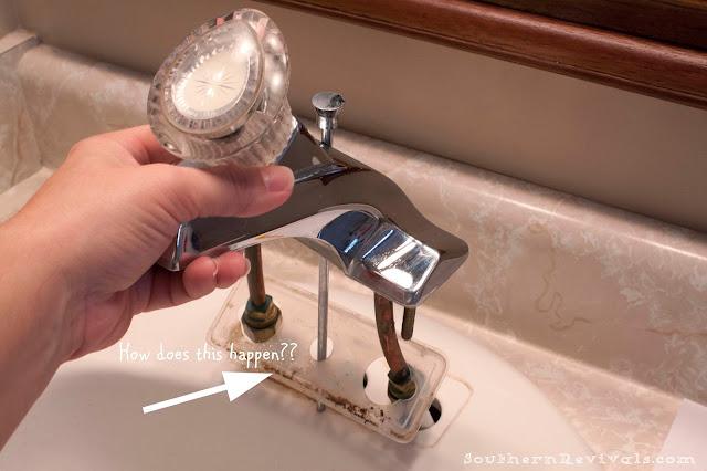 Quick Easy Bathroom Update Moen Boardwalk Faucet Install