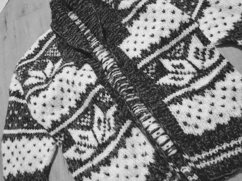 Knit Cardigan Norweger Vintage