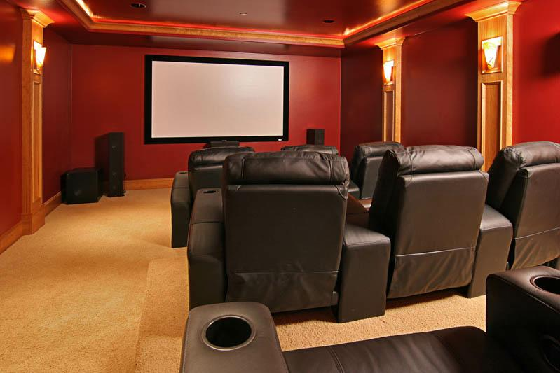 Home furniture decoration media rooms photos for Furniture for media room
