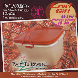 Level Gift Tulipware | Mei - Juni 2011