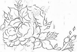 desenho de rosas para pintar