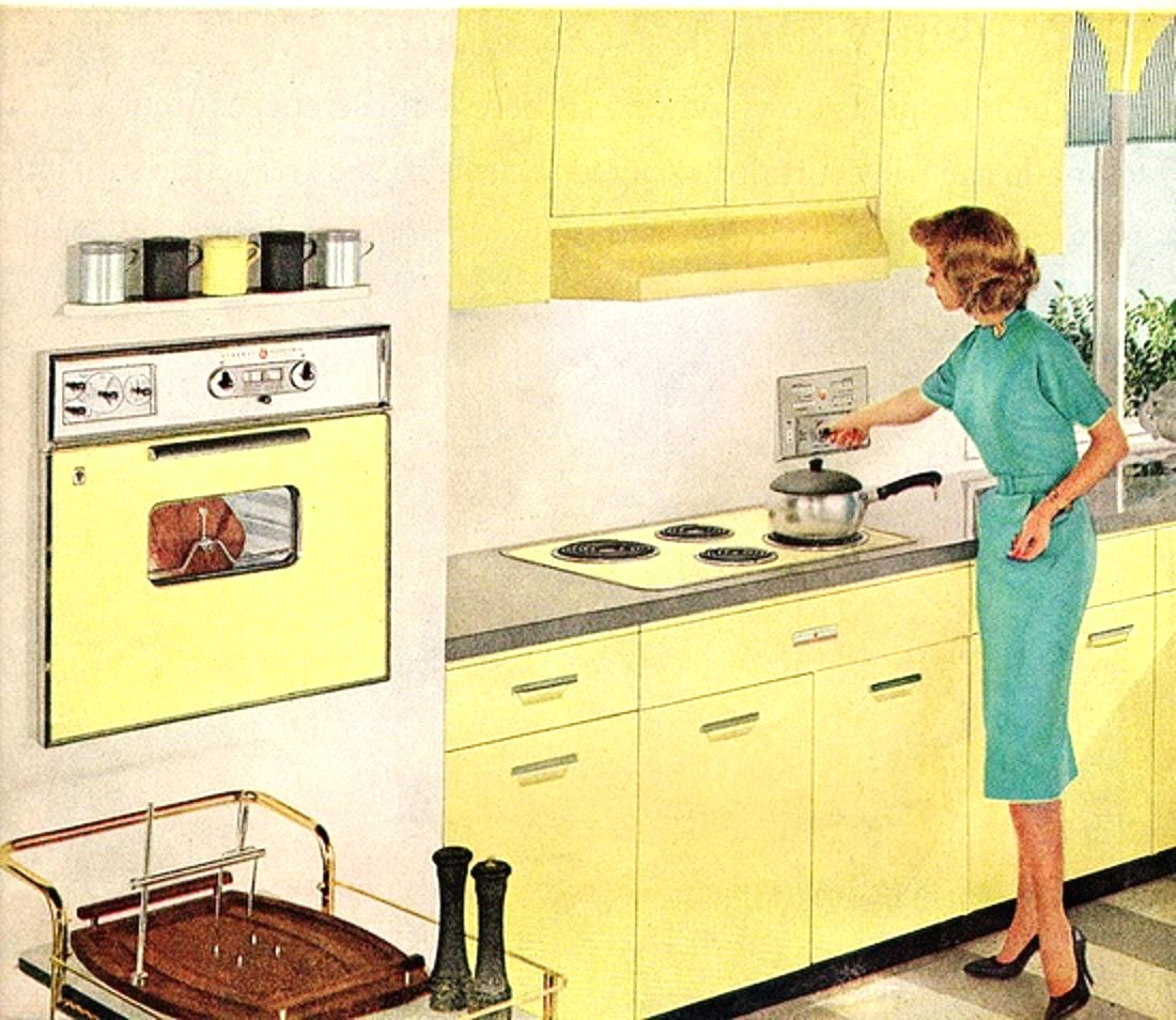 yellow retro kitchens - photo #9