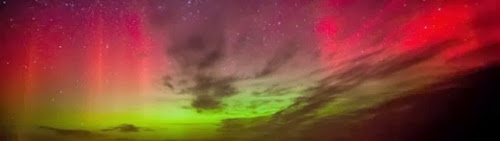 Northern lights over Terschelling, Friesland..