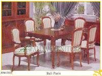 Meja dan Kursi Makan Ukiran Kayu Jati Itali Paris