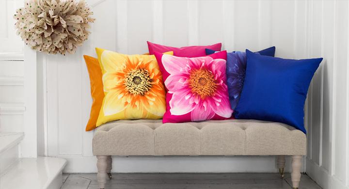 Bright ideas for the home by h m - Cojines decorativos para sofas ...