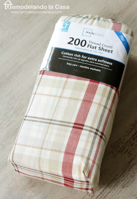 plaid twin sheet red and caqui