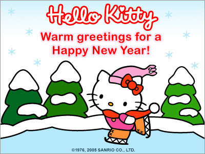 Hello Kitty Happy New Year Greetings Hello Kitty Forever