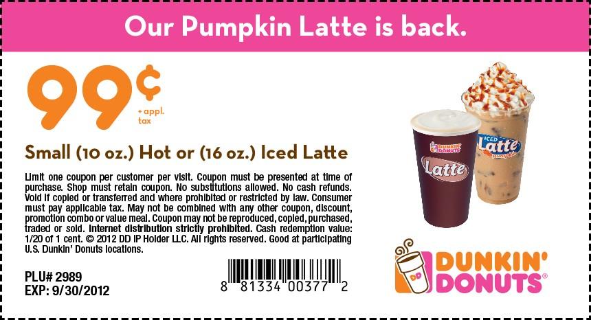 Get Yourself A 99 Cent Pumpkin Latte