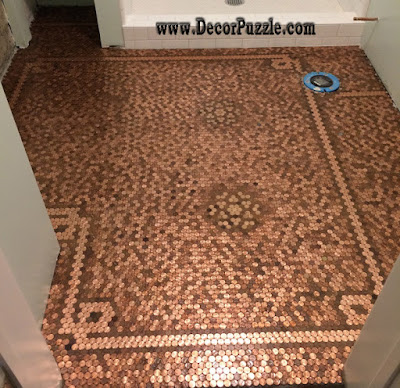 Top catalogue of penny floor and copper penny tile floor for Copper tile pennies